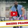 Skrytá kamera: Vousatý holohlavý drsňák na růžovém kole