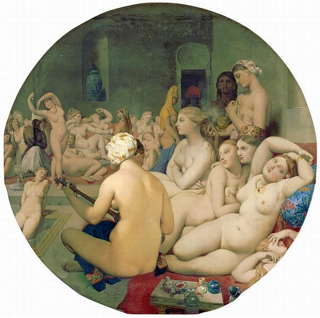 OBR: Jean Auguste Dominique Ingres - Turecké lázně (1862)