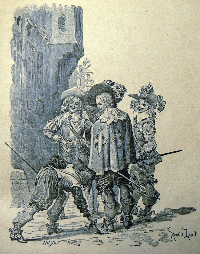 REPRO: Maurice Leloir (ilustrace ke knize Tři mušketýři)