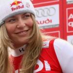 Nahá lyžařka Lindsey Vonnová