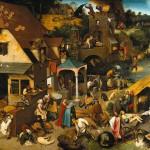 80 přísloví na jediném obraze Pietera Bruegela