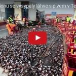 Děs, běs, katastrofy: Havárie kamionů s pivem