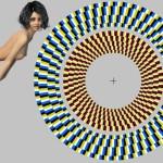 Optický klam: Rotující kruhy