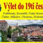 Výlet do 19ti českých měst