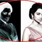 Optický klam: Dívka s třemi tečkami na nose