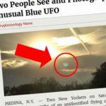 MODRÉ KULATÉ UFO: zjevilo se nad New Yorkem